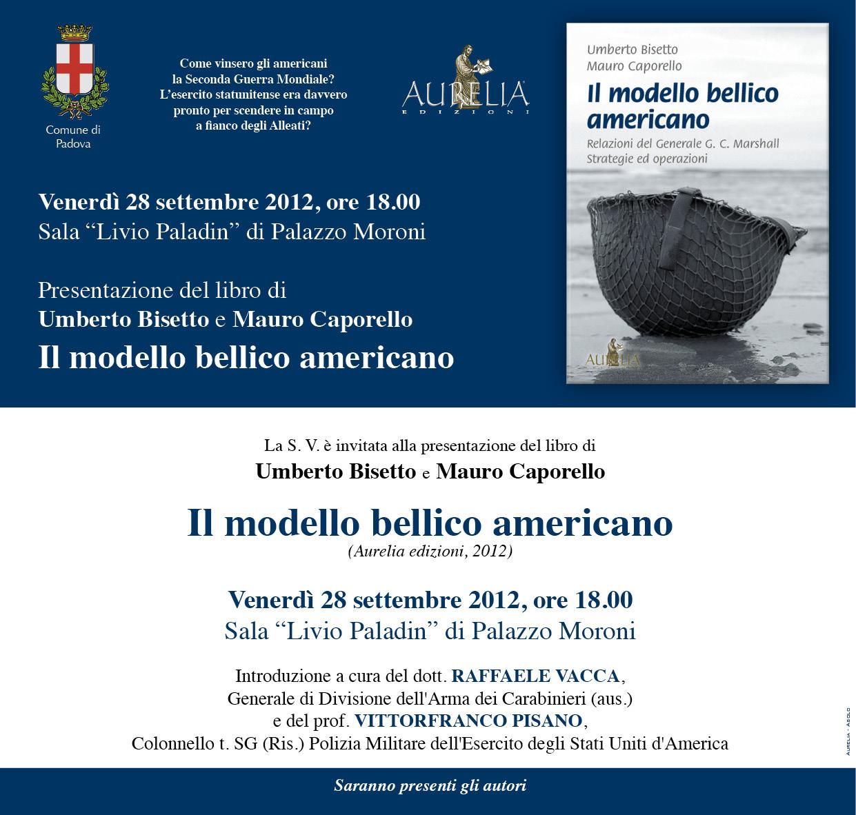 """Photo of Padova ospiterà l'anteprima della presentazione del libro """"Il modello bellico americano"""""""