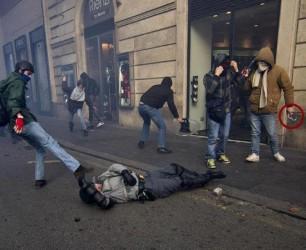 Manifestanti Roma