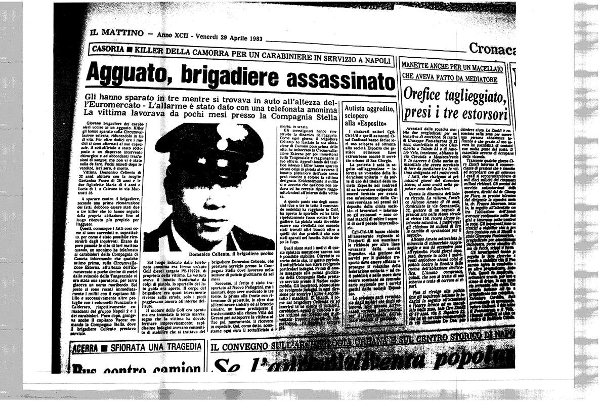 Photo of Il brigadiere Domenico Celiento, caduto trent'anni fa sul fronte del dovere nella prima guerra di camorra