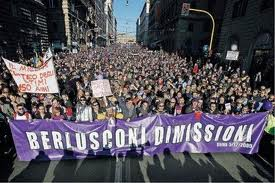 Striscione Berlusconi