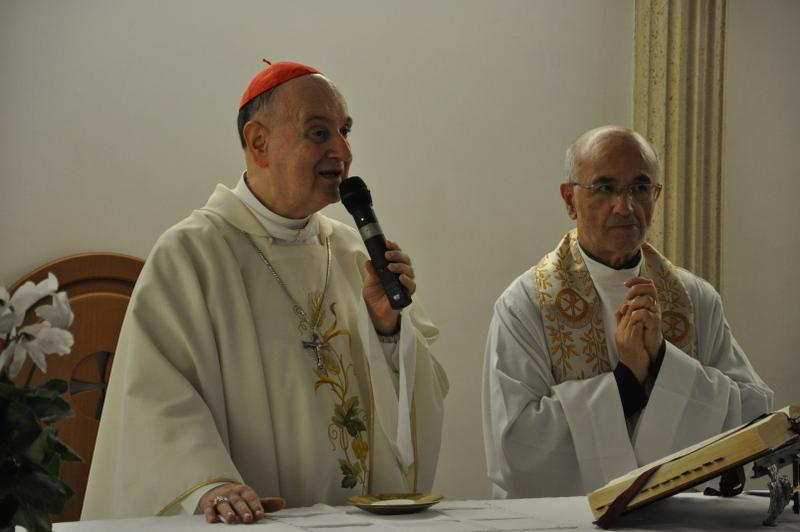 Photo of Il cardinal Comastri in visita alla raddoppiata Villa Tiberia