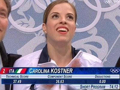 Photo of Sochi 2014, Carolina Kostner terza dopo il programma corto per Pattinaggio di figura