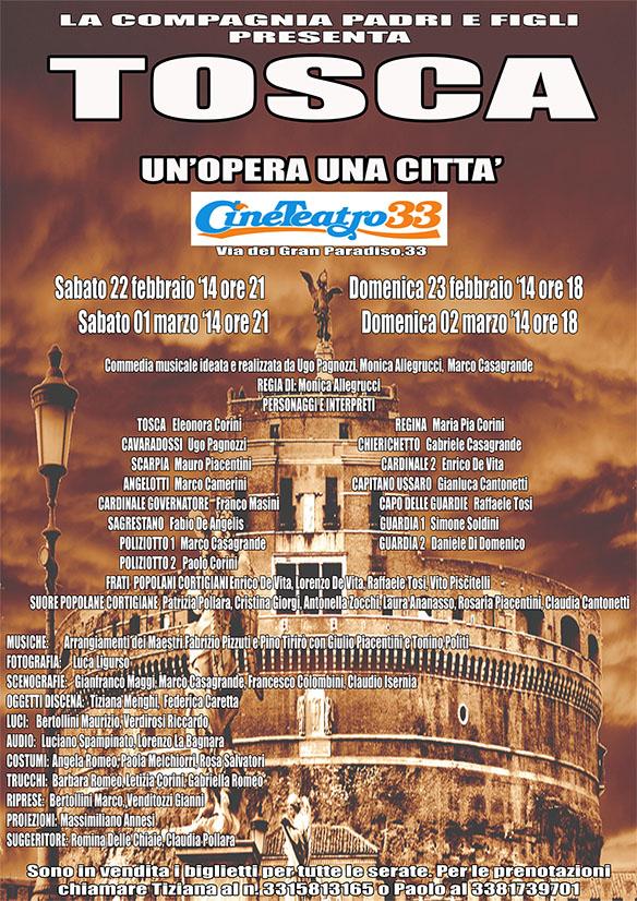 """Photo of Al Teatro 33, in scena """"Tosca – un'opera una città"""""""