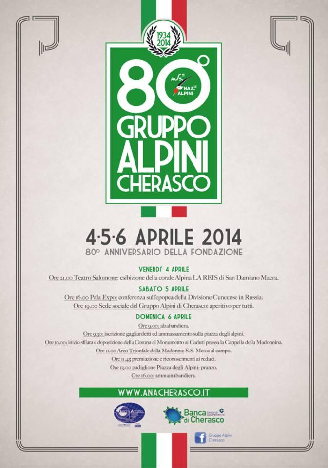 Photo of Il Gruppo Alpini di Cherasco festeggia gli 80 anni