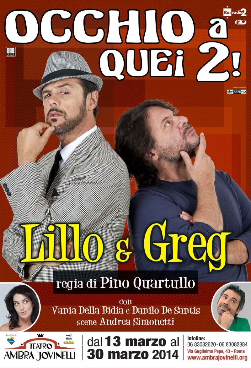 "Photo of ""Occhio a quei due"" Lillo e Greg  al Teatro Ambra Jovinelli"