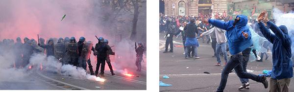 Photo of Poliziotto si autoidentifica negli scontri a Roma. DENUNCIATO.  Però nessun manifestante si è costituito!