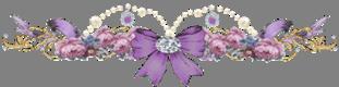 alman fiocco e fiori viola