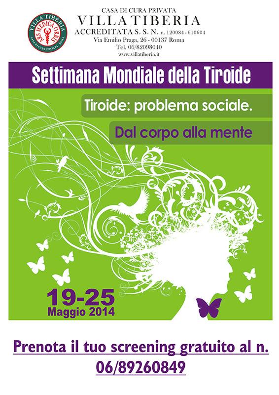 """Photo of Visite e screening ecografici gratuiti alla Casa di Cura """"Villa Tiberia"""",  per la """"Settimana Mondiale della Tiroide"""" dal 19 al 25 Maggio 2014"""