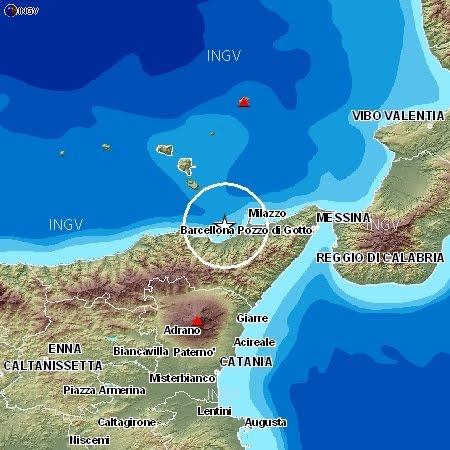 Photo of Sciame sismico moderato in Sicilia, nel distretto dei Golfi di Patti e Milazzo