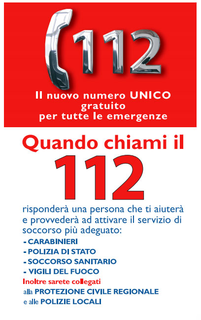 "Photo of L'Italia scopre il numero verde ""112""…"