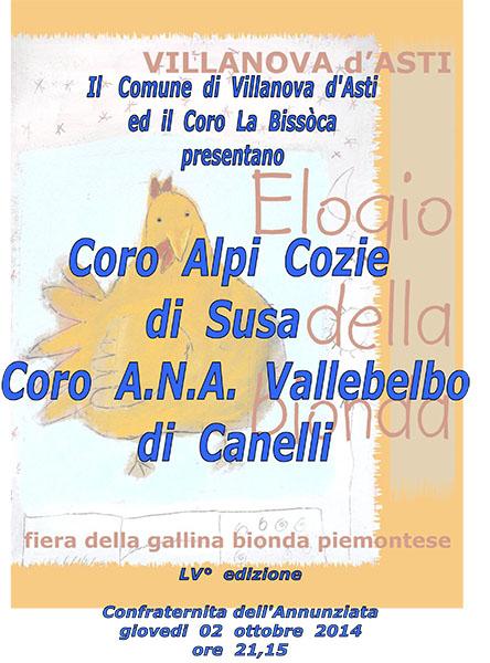 """Photo of Una gita a…lla """"fiera della gallina bionda"""", anche il Coro Alpi Cozie di Susa e A.N.A. di Vallelbo"""