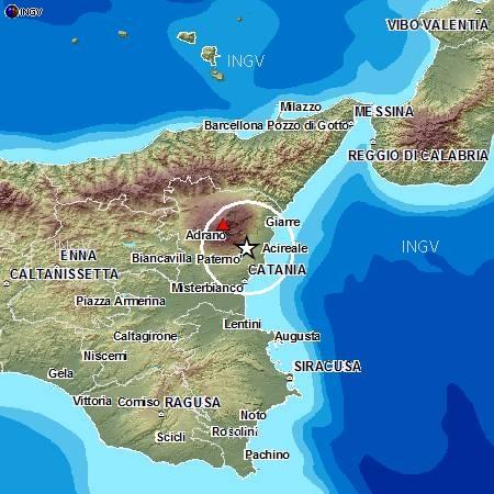 Photo of In contemporanea, due  scosse di terremoto nel Beneventano ed nel Catanese