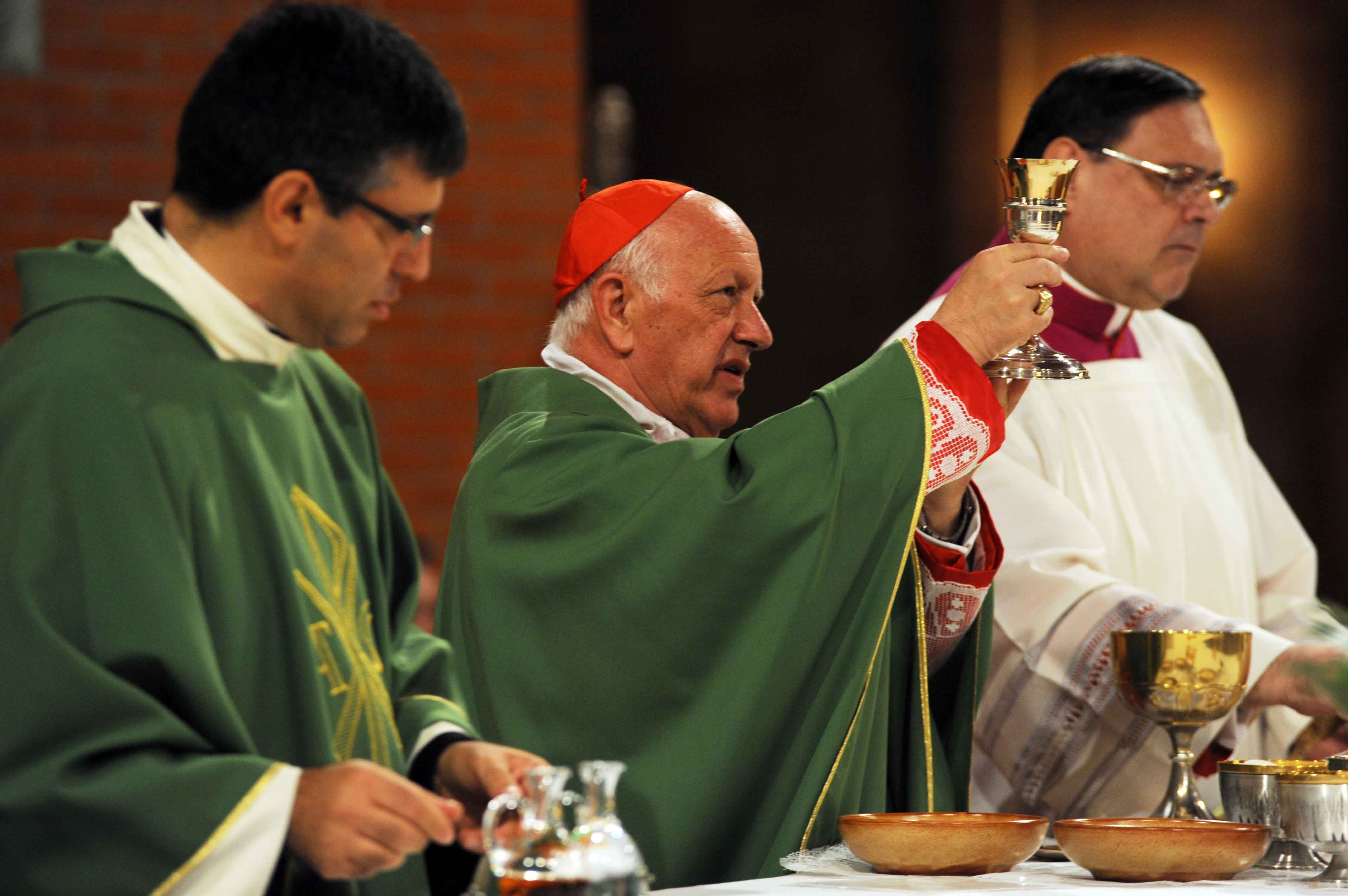 Photo of Il Primate del Cile, Cardinale S. Em. Ricardo Ezzati Andrello,  è il Presbitero della parrocchia romana del SS. Redentore a Valmelaina