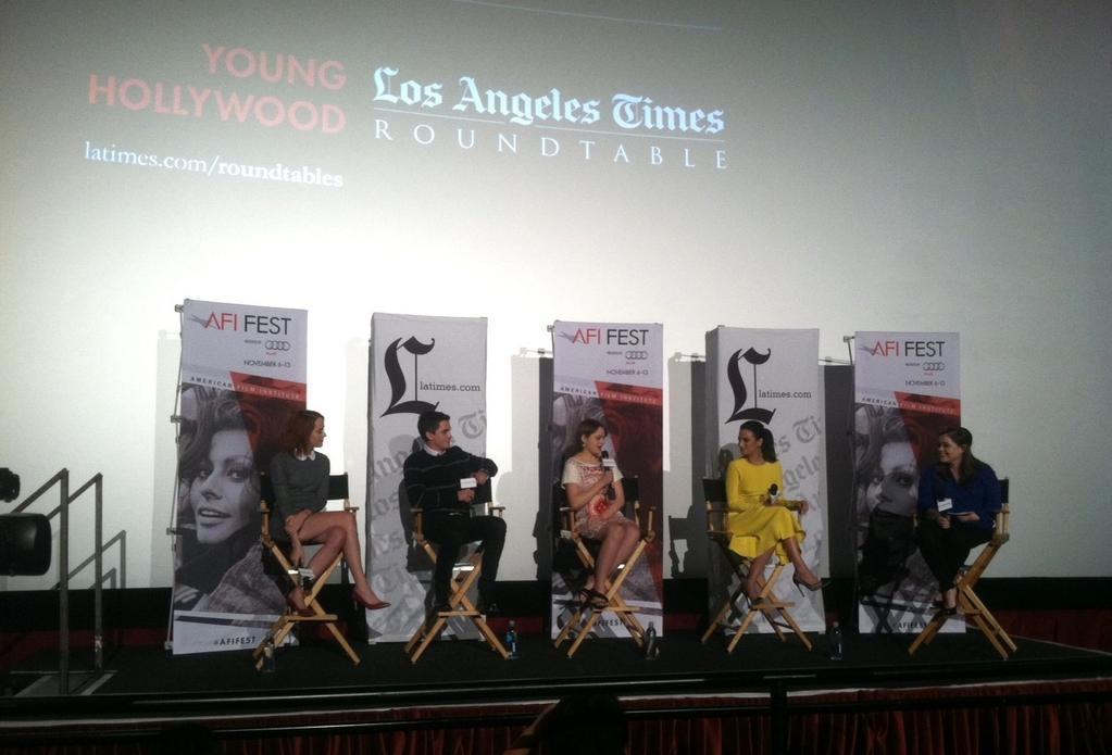 Photo of Los Angeles Time Young Hollywood roundtable