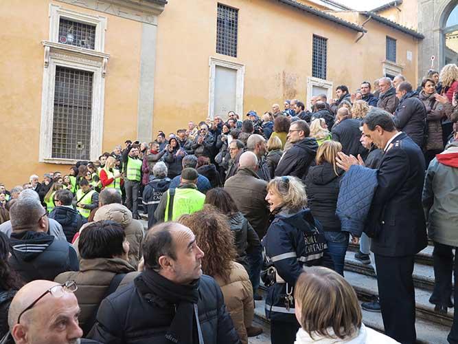 manifestazione Polizia Locale Roma