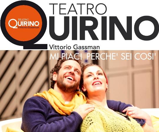 """Photo of Teatro Quirino – Vanessa Incontrada e Gabriele Pignotta in """" Mi piaci perché sei così"""""""