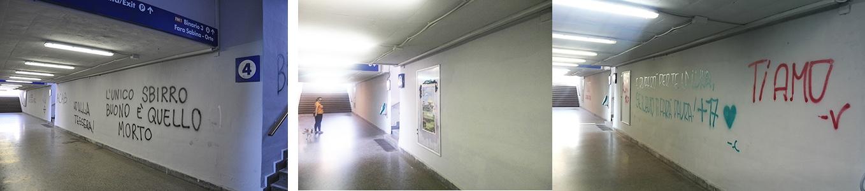 Photo of Roma – Stazione ferroviaria  di Settebagni: pareti imbrattate per l'ennesima volta