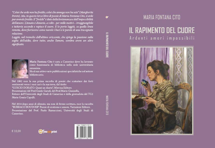 """Photo of """"Il rapimento del cuore"""". Il nuovo libro della poetessa Maria Fontana Cito"""