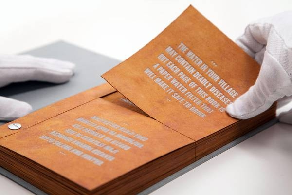 Photo of Il 'Libro da bere' che purifica l'acqua