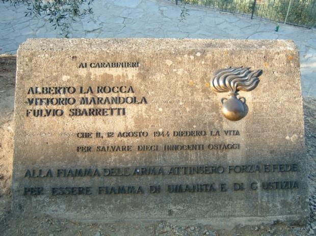 Photo of Pagina di veri Eroi. I Martiri di Fiesole:  I carabinieri-partigiani Alberto la Rocca, Fulvio Sbarretti e Vittorio Marandola