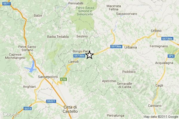 Photo of Flash – Terremoto di magnitudo 3.6 a Mercatello sul Metauro