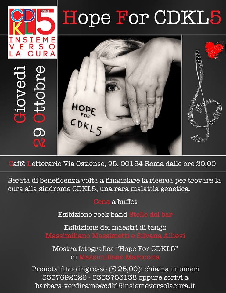 """Photo of Associazione """"CDKL5 – mano nella manina… insieme verso la cura"""""""