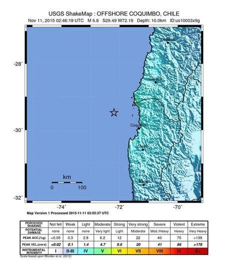 Photo of Cile – Terremoto di magnitudo 6,9