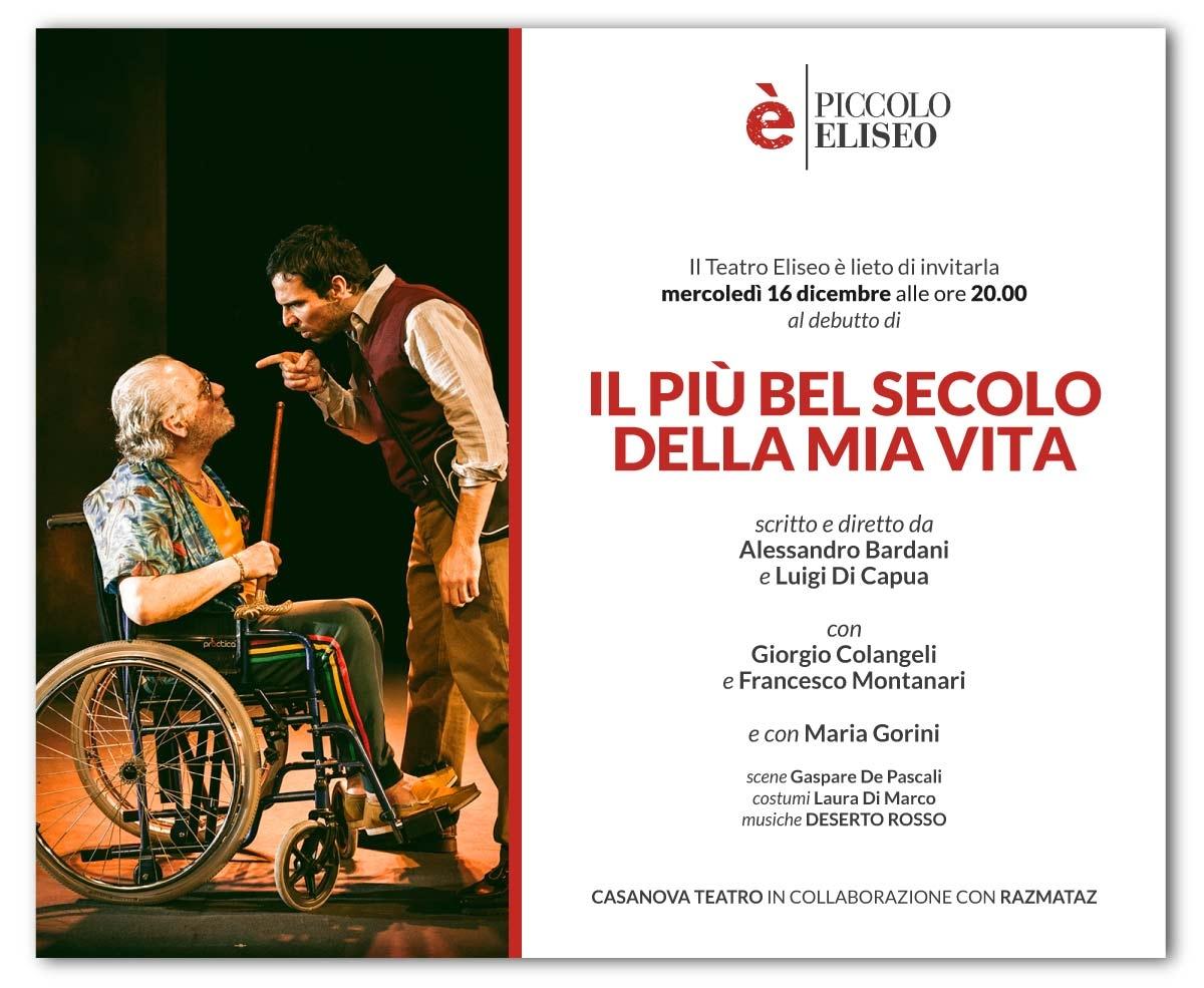 """Photo of Piccolo Eliseo – """"Il più bel secolo della mia vita"""" di Bardani e Di Capua"""