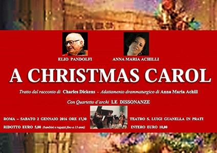 """Photo of Il grande Elio Pandolfi in scena insieme ad Anna Maria Achilli  in """"A Christmas Carol – Canto Di Natale"""""""