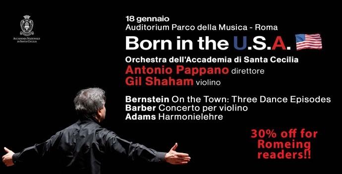 Photo of Accademia di Santa Cecilia – Gil Shaham e Antonio Pappano  per  la musica U.S.A.