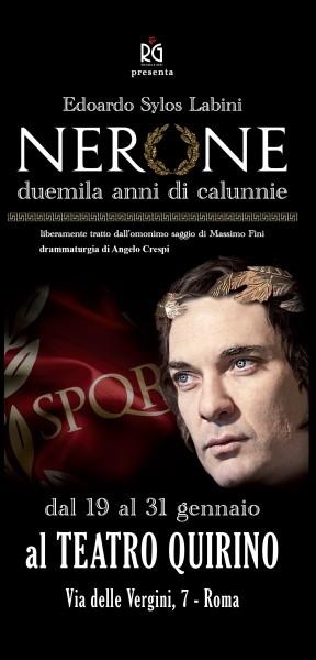 Photo of Teatro Quirino –  Nerone, duemila anni di calunnie con Edoardo Sylos Labini