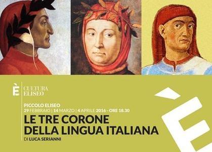 Photo of Eliseo Culture – Luca Serianni  con Dante, Petrarca e Boccaccio