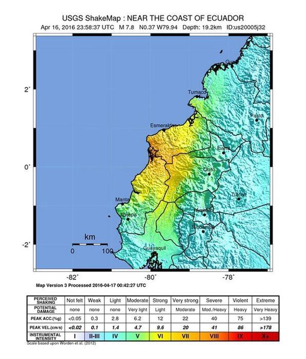 Photo of Flash – Terremoti – Ecuador, scossa 7.8. almeno 28 morti. Il presidente è in Vaticano