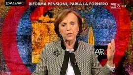 """Photo of La Fornero a """"Ballarò"""""""