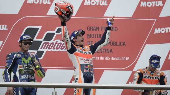 Photo of MotoGP Argentina: Sul podio Marquez, Rossi e Pedrosa