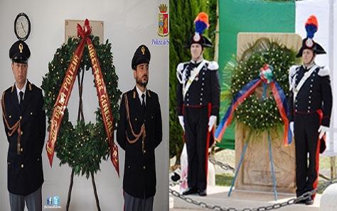 Photo of Commemorati due Caduti delle Forze dell'Ordine: 72° Carabiniere Fleres e 36° Appuntato PS Evangelisti