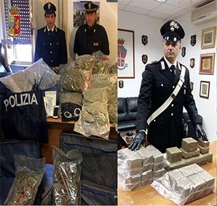 Photo of In due distinte operazioni, sottratti quasi 50 chili di stupefacente al mercato della droga