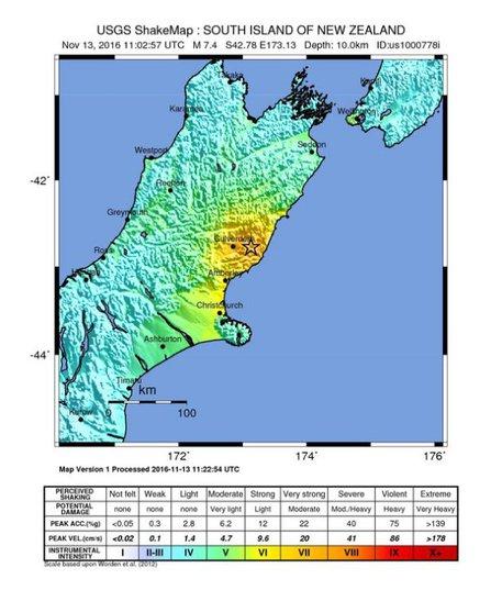 terremoto n zelanda 13 11 2016