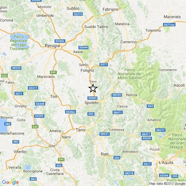 Photo of Scossa di terremoto di magnitudo 4.1 a Campello sul Clitunno