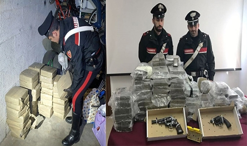 Photo of Maxi sequestro di droga nella Capitale. 281 kg di hashish e 2 revolver sequestra.  16 le persone arrestate – VIDEO