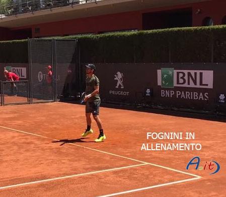Photo of Agli Internazionali  di tennis , è subito Fognini