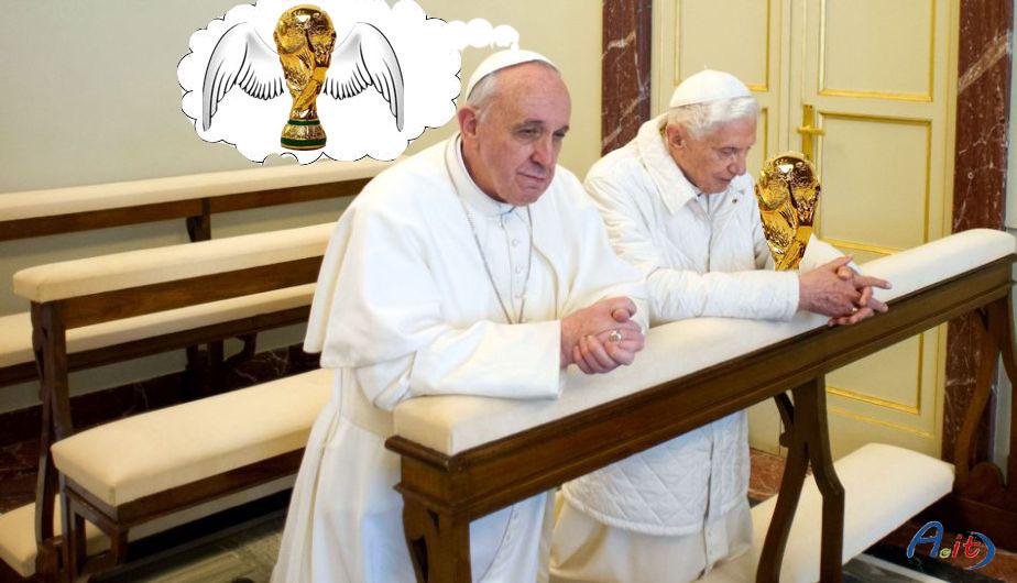 ALM calcio mondiali Bergoglio Ratzinger coppa ali logo
