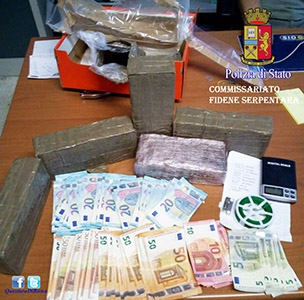 Photo of Lotta alla droga. Da San Basilio a Tufello. Sequestrati 5 kg di hashish e oltre 3mila euro. Due arresti