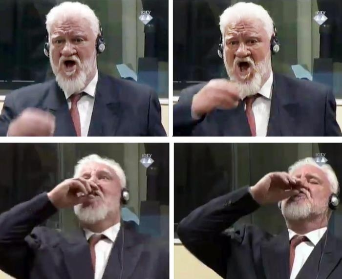 Photo of Tribunale dell'Aja: condannato come criminale di guerra, Il generale croato Slobodan Praljak, in diretta  ha respinto la sentenza ed ha bevuto del veleno. Morto! E quando….