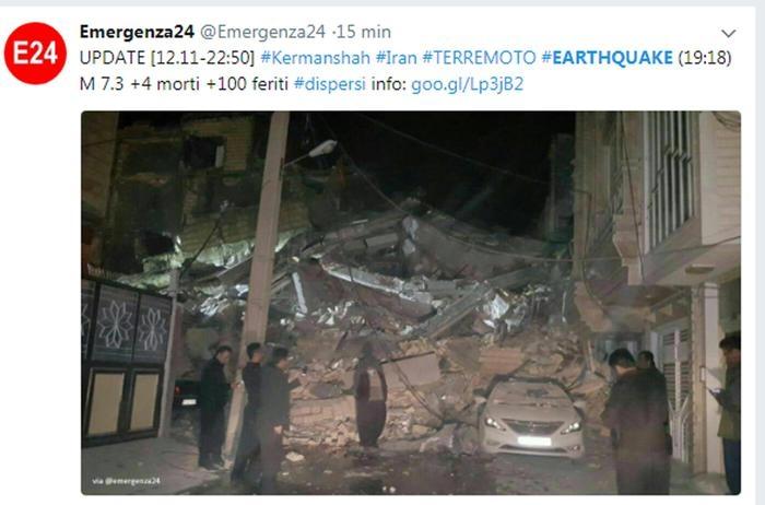 Photo of Terremoti: di magnitudo 7.2 con almeno 61 morti e 300 feriti al confine tra Iran e Iraq. Di magnitudo 6.7 in Costa Rica