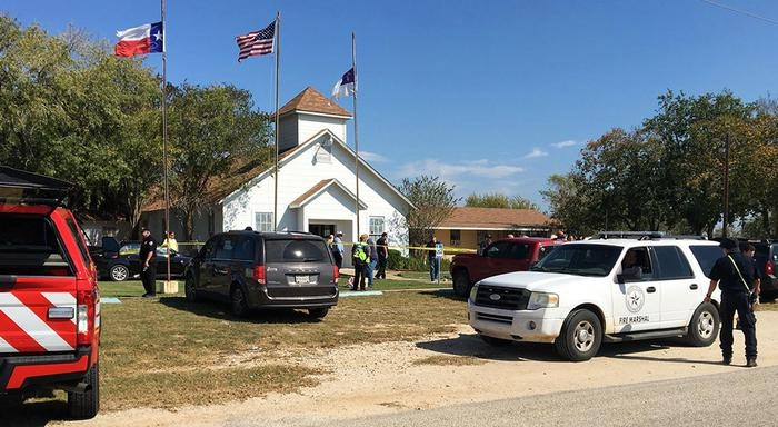 Photo of Sparatoria  nella Chiesa Battista a Sutherland Springs,Texas