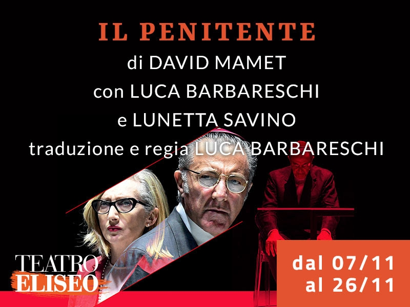 Photo of Teatro Eliseo – 'Il Penitente' di David Mamet con Luca Barbareschi