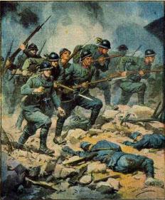 guerra assalto baionetta