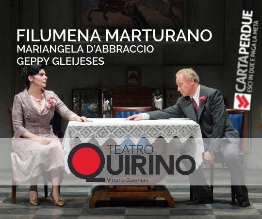 Photo of Teatro Quirino – 'Filumena Marturano' con Mariangela D'Abbraccio e Geppy Gleijeses.