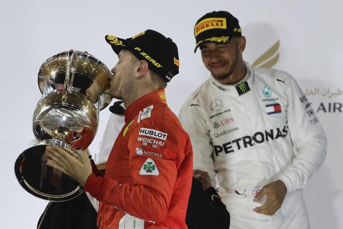 Photo of F1GP Bahrain: vince Vettel. Mercedes seconda e terza